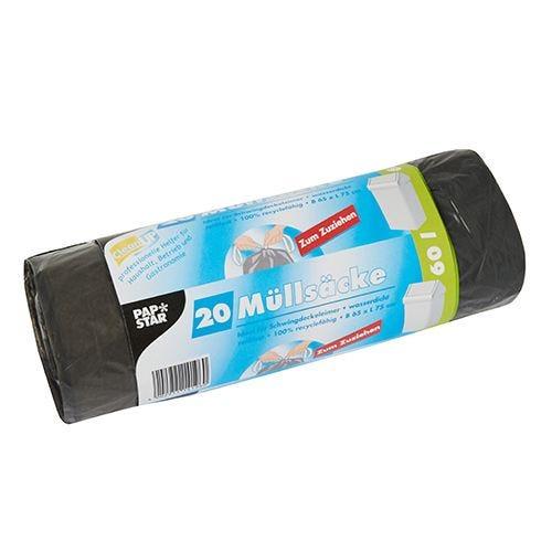 Sac poubelle avec fermeture, LDPE 60 l 75 cm x 65 cm gris par 240