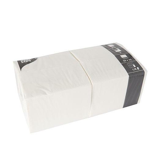 Serviette 3 plis pliage 1/8 33 cm x 33 cm blanc par 1000