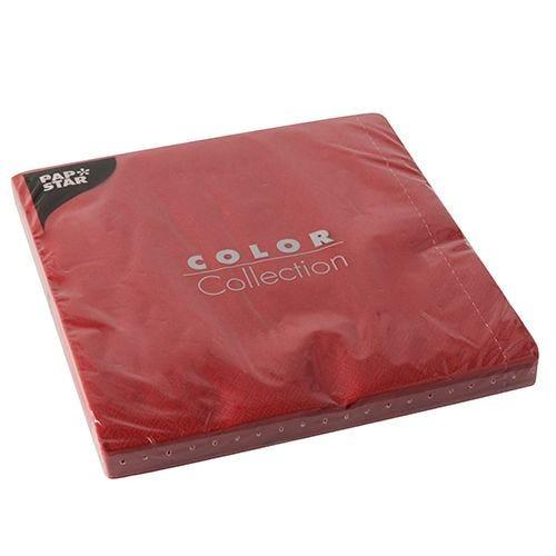 Serviette 3 plis pliage 1/4 40 cm x 40 cm rouge par 400