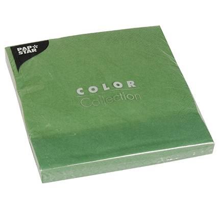 Serviette 3 plis pliage 1/4 40 cm x 40 cm vert foncé par 400