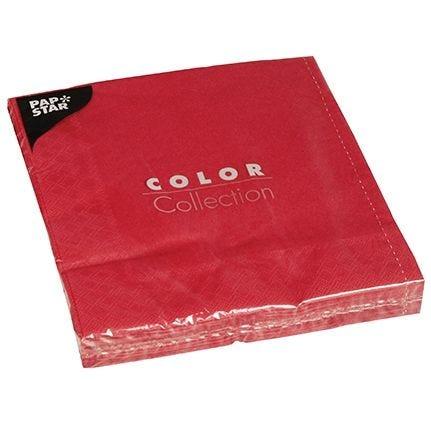 Serviette 3 plis pliage 1/4 40 cm x 40 cm bordeaux par 400