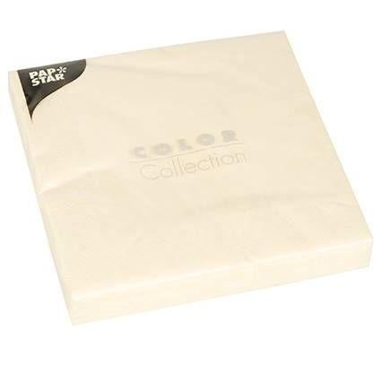 Serviette 3 plis pliage 1/4 40 cm x 40 cm crème par 400