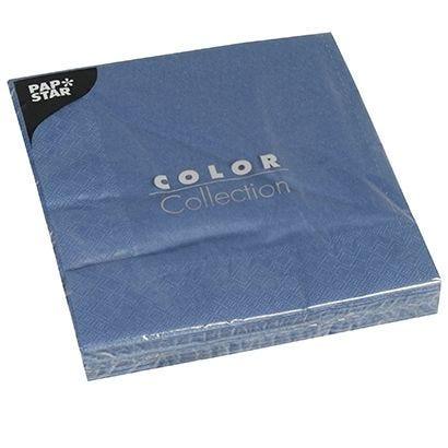 Serviette 3 plis pliage 1/4 40 cm x 40 cm bleu foncé par 400
