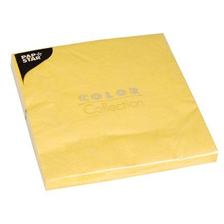 Serviette 3 plis pliage 1/4 40 cm x 40 cm jaune par 400