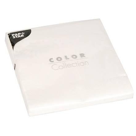 Serviette 3 plis pliage 1/4 40 cm x 40 cm blanc par 400