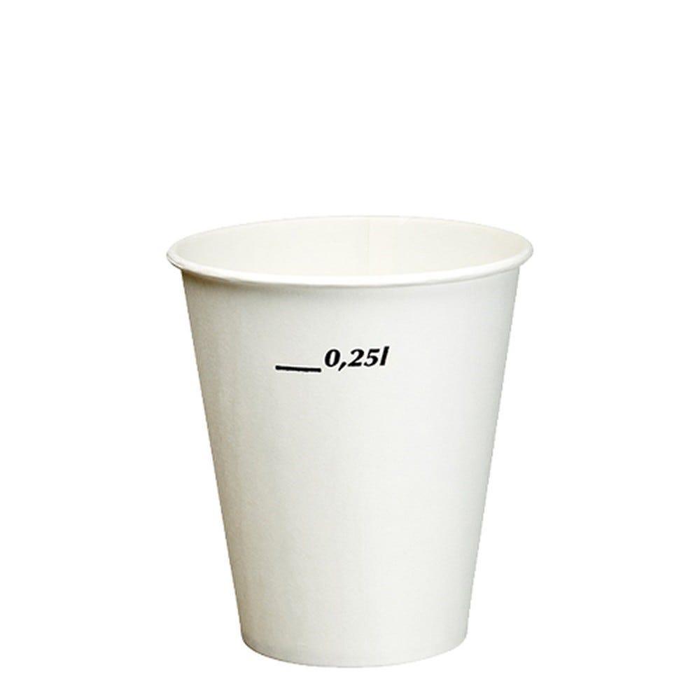 Gobelet boissons froides en carton 0,25 l Ø 8,97 cm · 10 cm blanc par 2000