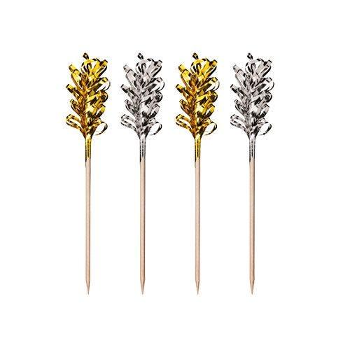 Pique décoratif 10,5 cm ''Frills'' Or / Argent par 600