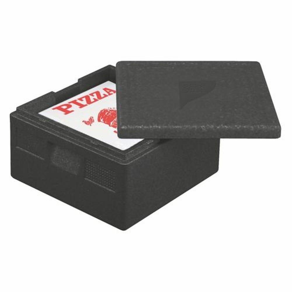 Boîte isotherme transport en P.P.E. 41 cm x 41 cm x 24 cm noir ''Pizza'' par 5 (photo)