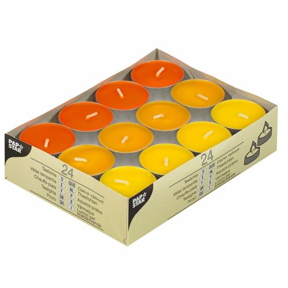Chauffe-plats Ø 38 mm · 16 mm ''jaune, orange, bornéo'' par 192