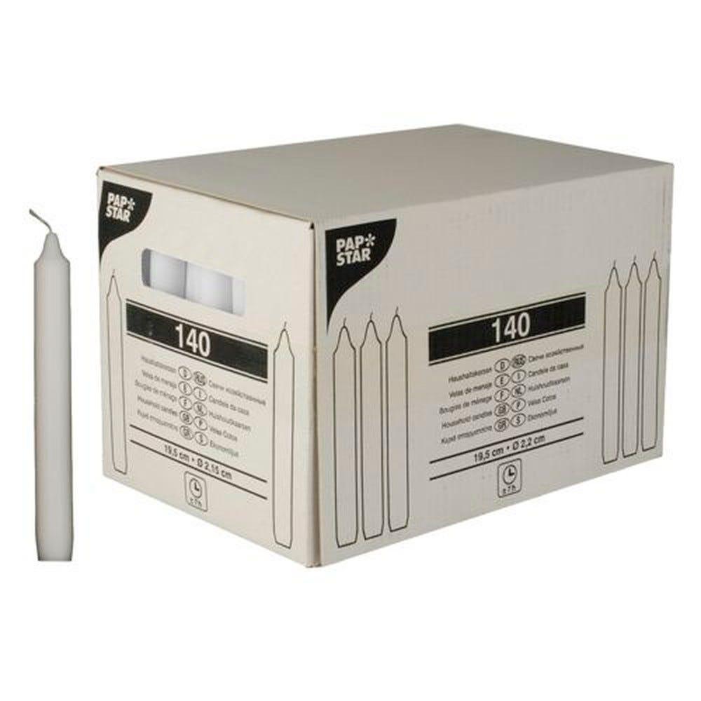 Bougie de ménage Ø 2,15 cm · 19,5 cm blanc par 140
