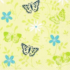 Serviette 3 plis pliage 1/4 33 cm x 33 cm ''Summerdream'' par 200