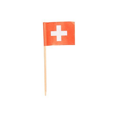 Pique décoratif 8 cm ''Switzerland'' par 1000