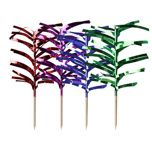 Pique décoratif 12 cm couleurs assorties ''Palm Leaf'' par 1440