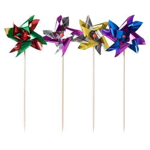 Pique décoratif 17,5 cm couleurs assorties ''Éolienne'' par 600