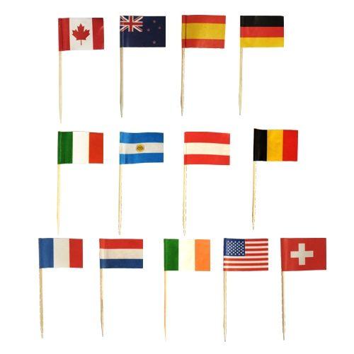Pique décoratif 8 cm ''Nations'' par 5000