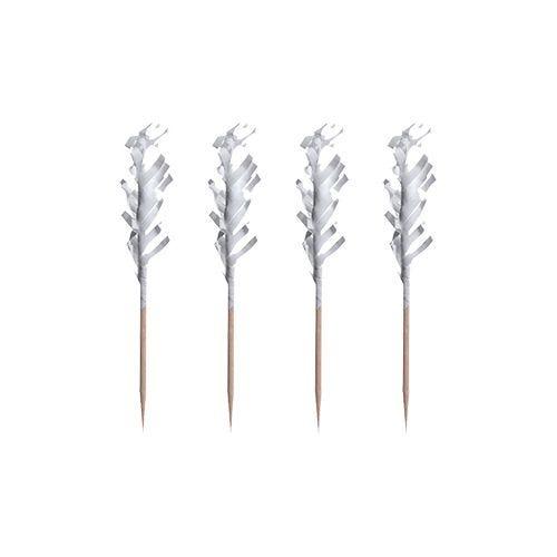 Pique décoratif 6,8 cm blanc ''Frills'' par 10000