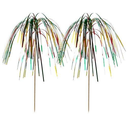 Pique décoratif 15,5 cm ''Fireworks'' multicolore par 1000