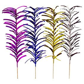Pique décoratif 20 cm couleurs assorties ''Palm Leaf'' par 800