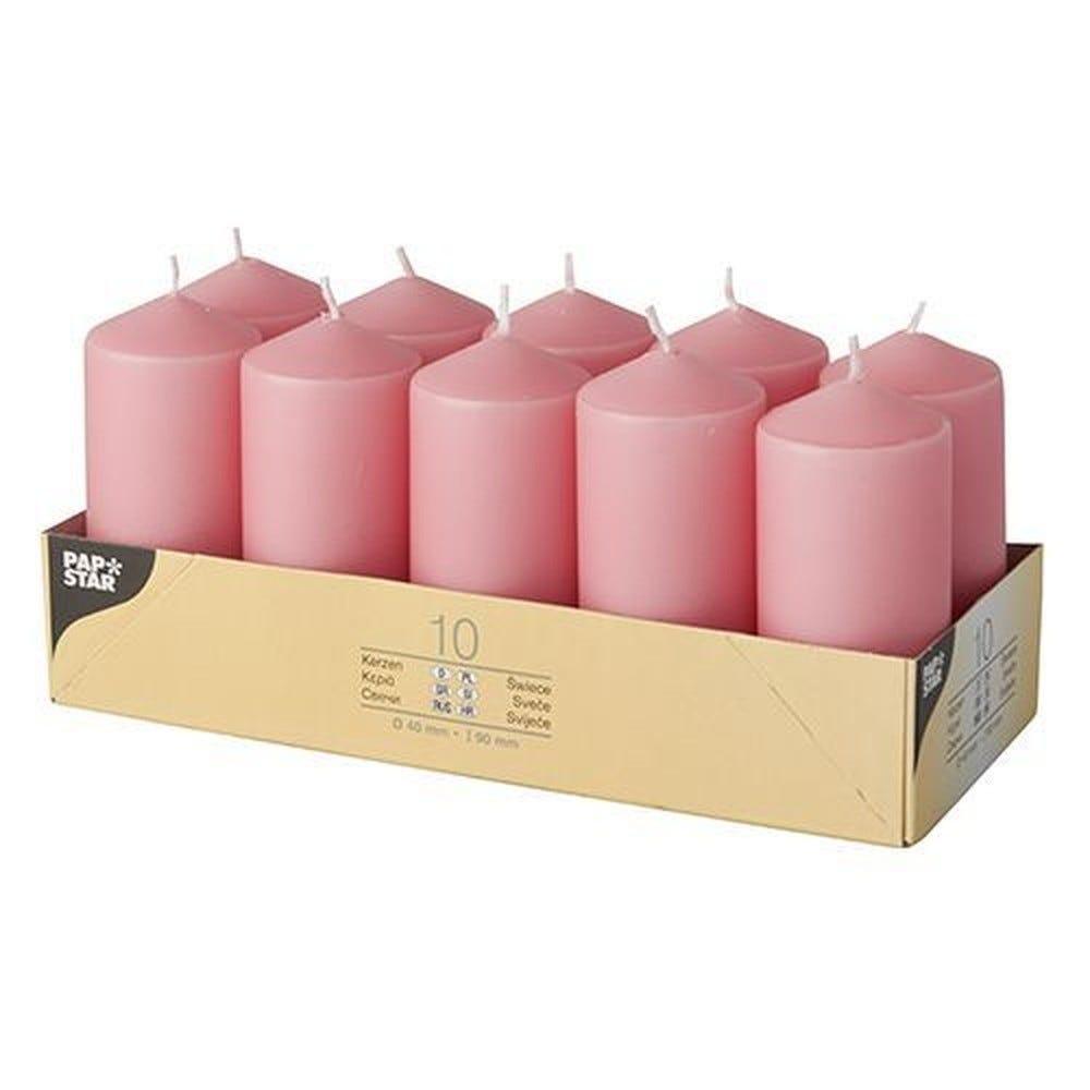 Bougie cylindrique Ø 40 mm · 90 mm rose foncé par 40