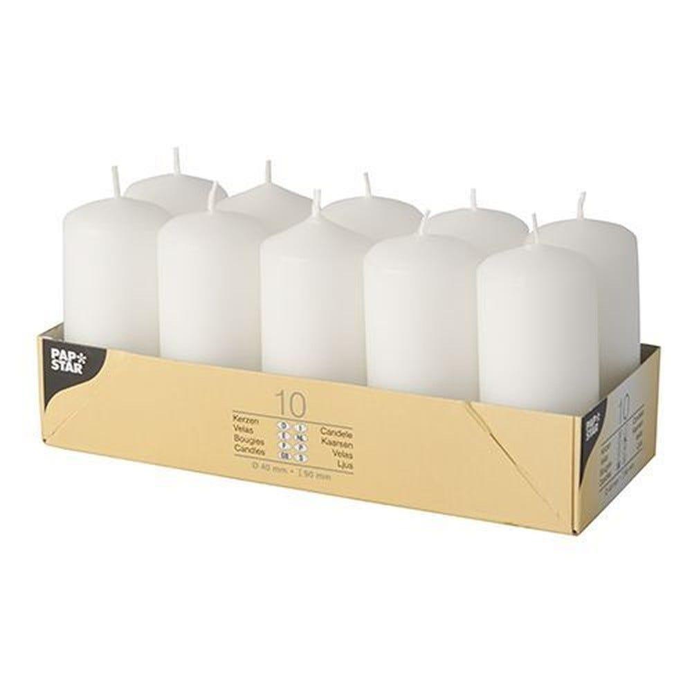 Bougie cylindrique Ø 40 mm · 90 mm blanc par 40
