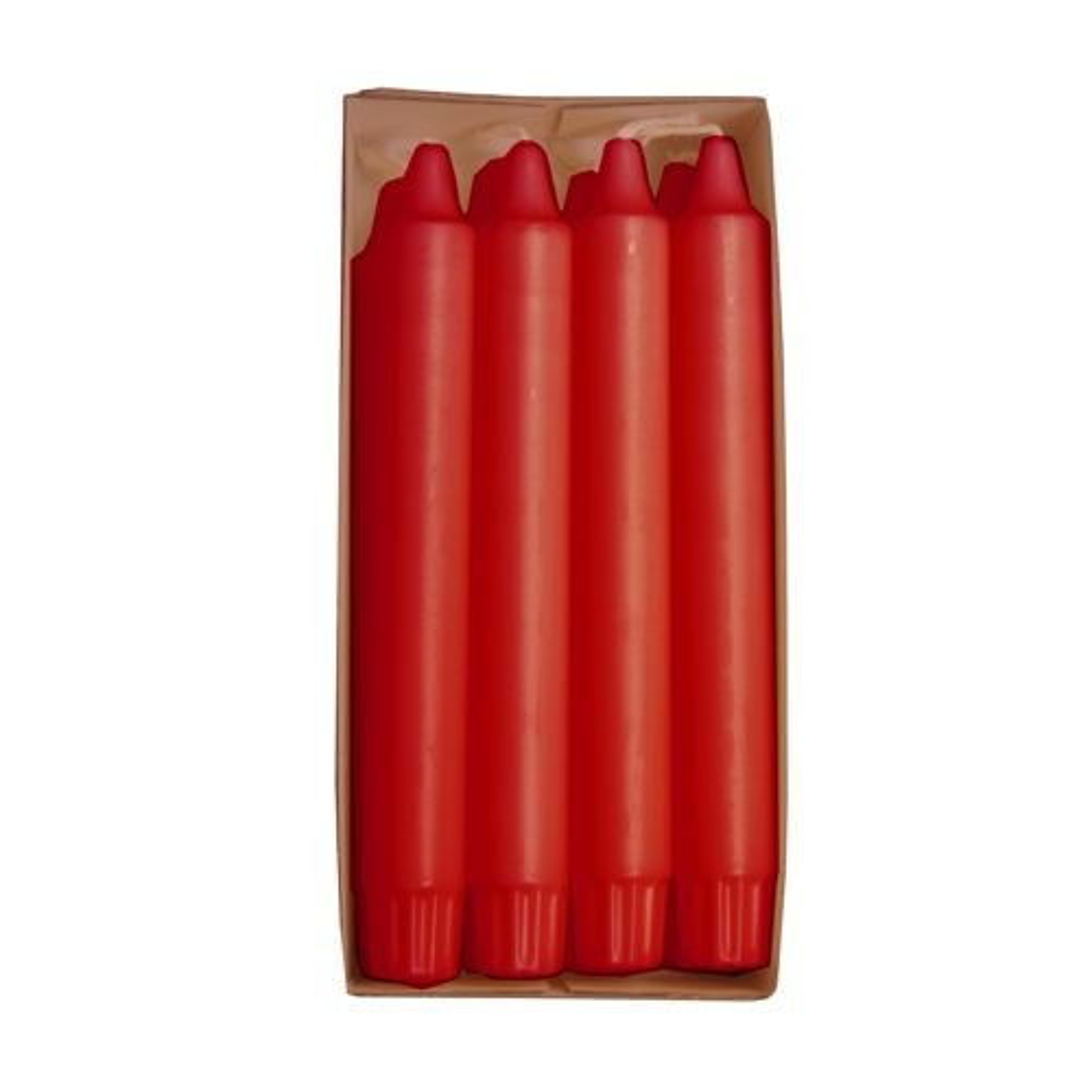 Bougie de lustre Ø 2,4 cm · 20 cm rouge en 100 % stéarine par 80