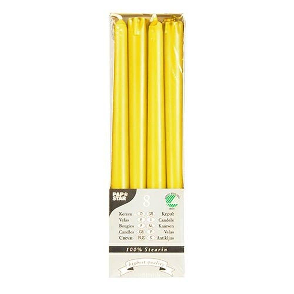 Bougie de chandelier Ø 2,2 cm · 25 cm jaune en 100 % stéarine par 80