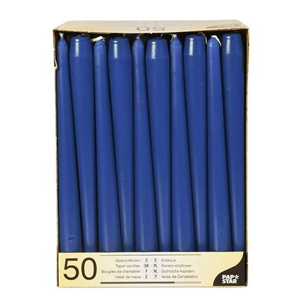 Bougie de chandelier Ø 2,2 cm · 25 cm bleu foncé par 100