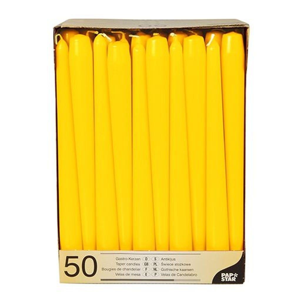 Bougie de chandelier Ø 2,2 cm · 25 cm jaune par 100