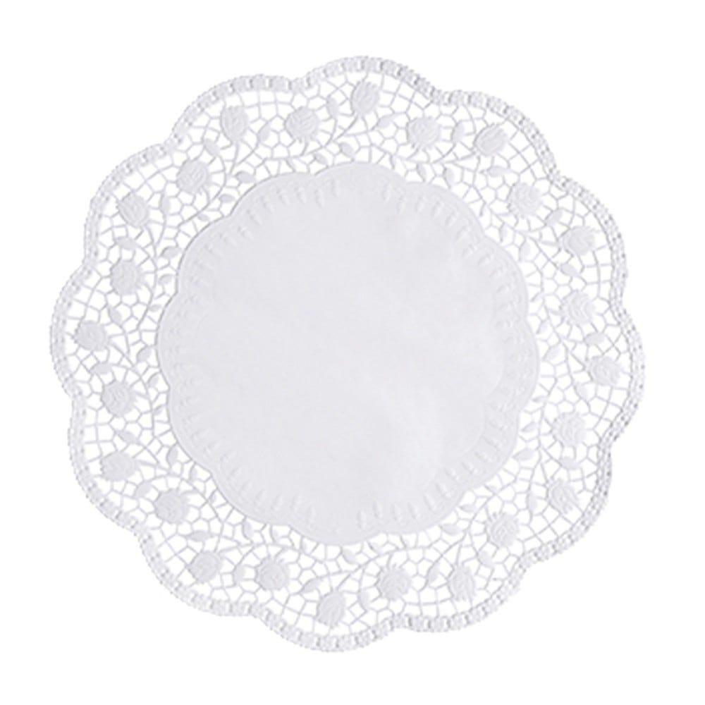 Dentelle ronde Ø 30 cm blanc par 2000