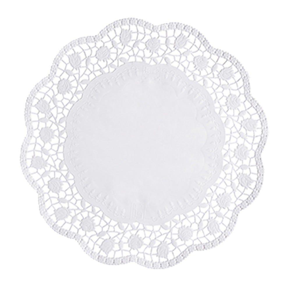 Dentelle ronde Ø 32 cm blanc par 2000