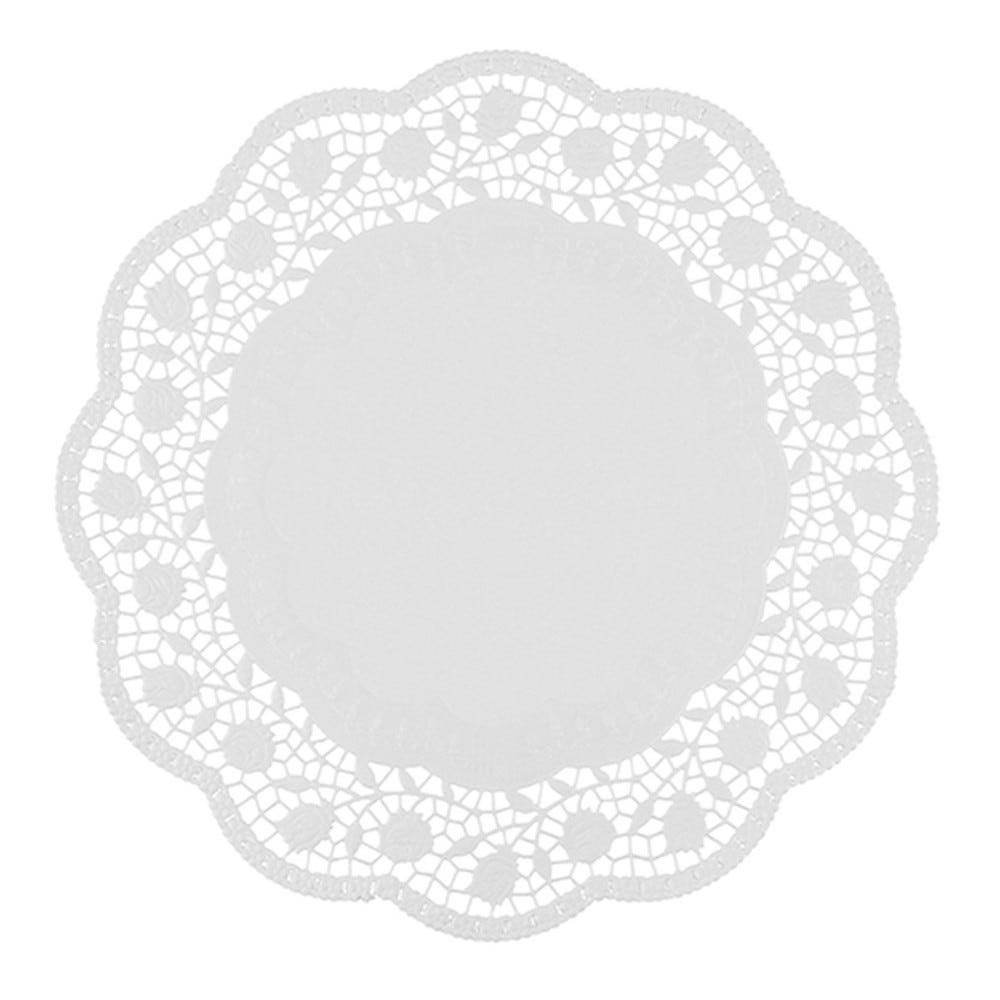 Dentelle ronde Ø 34cm blanc par 2000