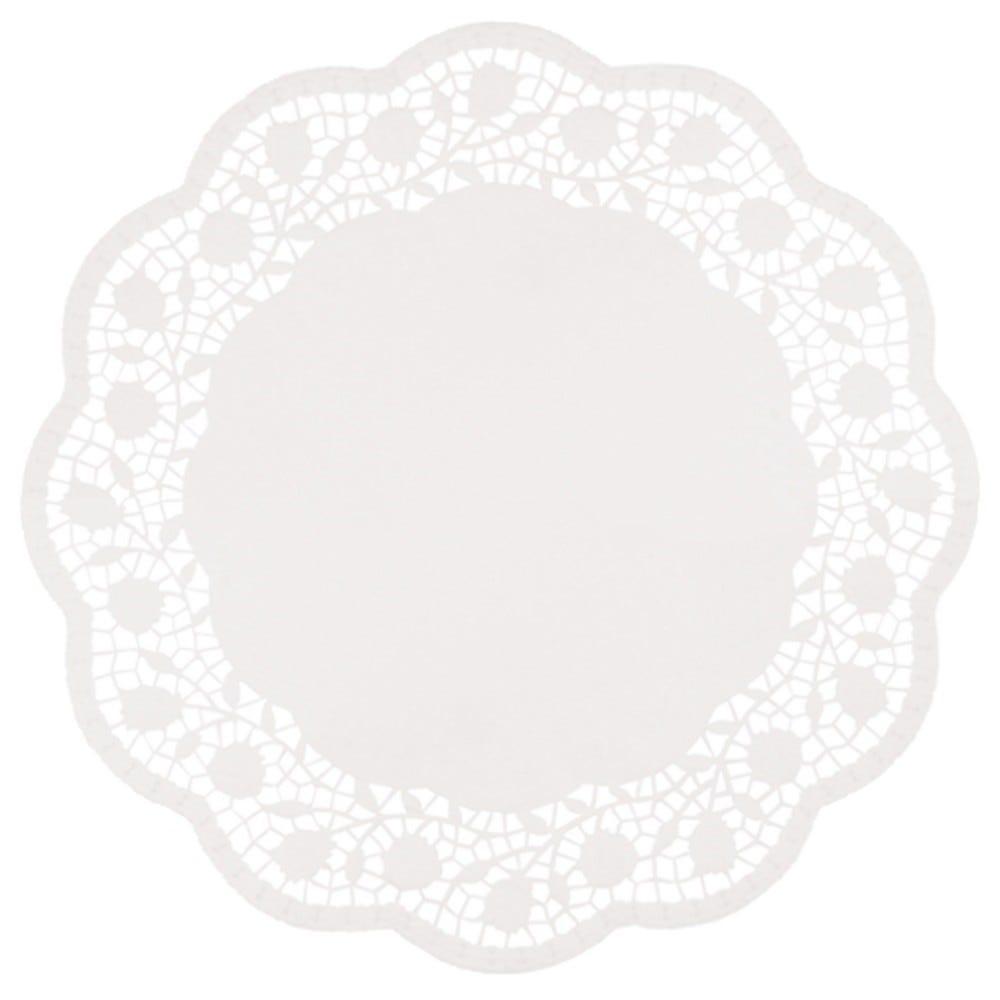 Dentelle ronde Ø 36 cm blanc par 1000