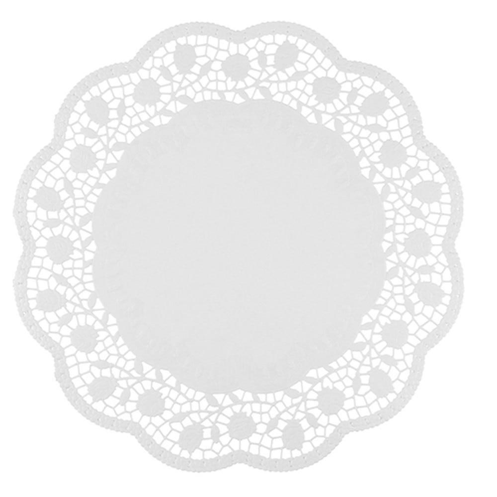 Dentelle ronde Ø 38 cm blanc par 1000