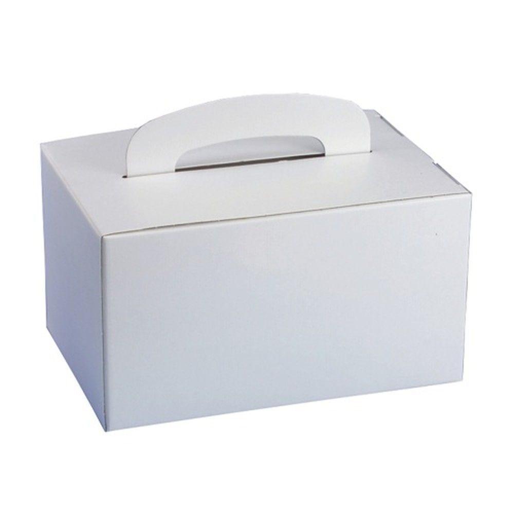 Panier-repas en carton rectangulaire 12,5x15,5x22,5 cm avec poignée, par 100