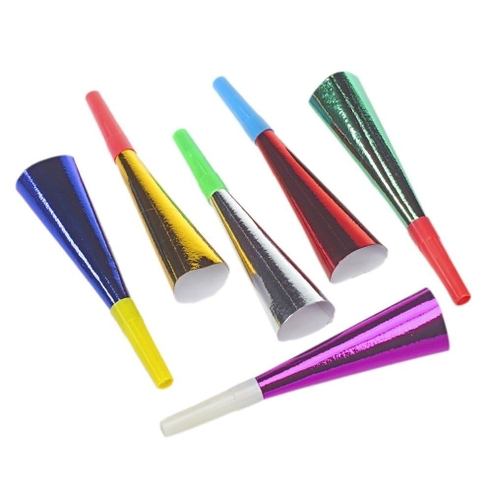 Trompette 18 cm couleurs assorties ''Metallic'' par 72