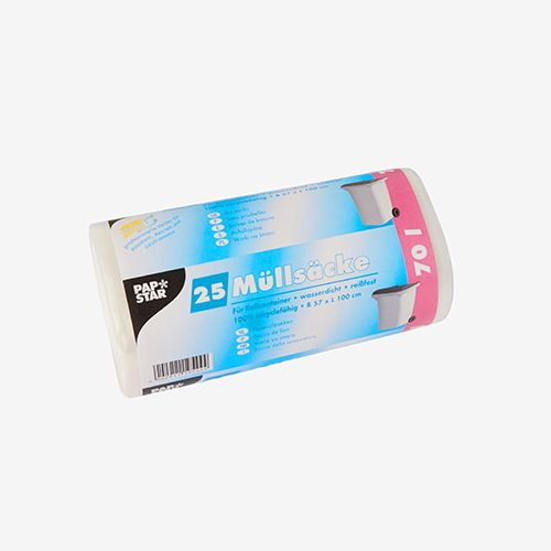 Sac poubelle, HDPE 70 l 100 cm x 57,5 cm transparent par 500