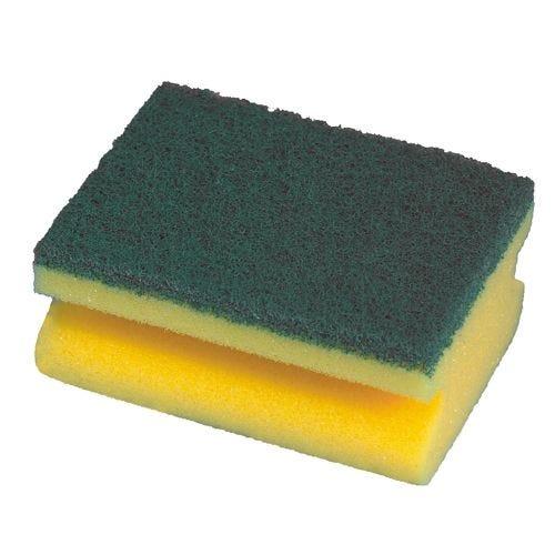 Éponge 4,4 cm x 9,5 cm x 7 cm jaune avec rainure par 128 (photo)