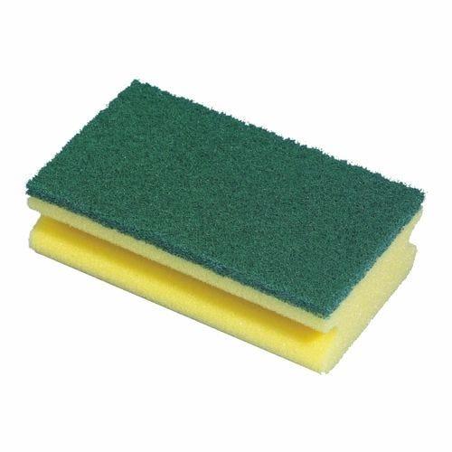 Éponge 15,5 cm x 8,5 cm x 4 cm jaune avec rainure par 64 (photo)
