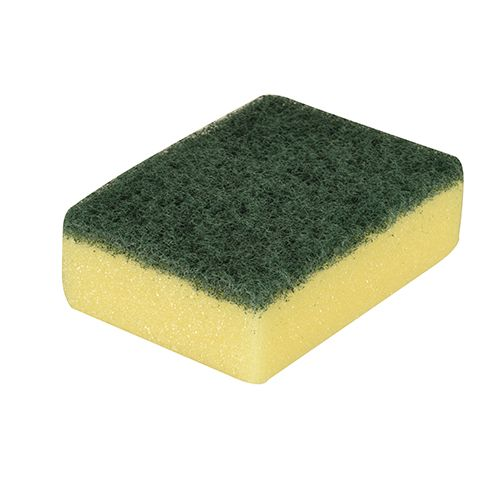 Éponge 3 cm x 9,5 cm x 7 cm jaune/vert par 180 (photo)