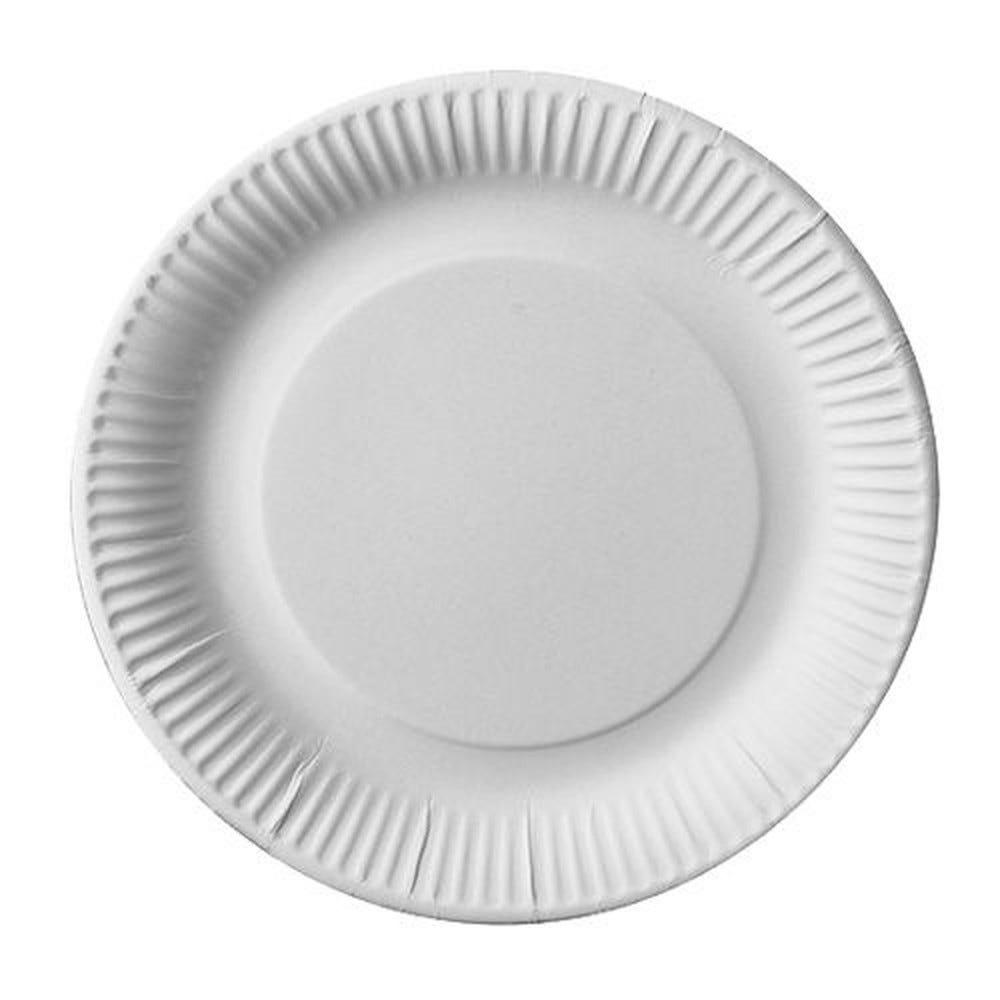 Assiette en carton ''pure'' ronde Ø 23 cm blanc par 450