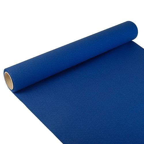 Chemin de table ''ROYAL Collection'' 3 m x 40 cm bleu foncé par 6