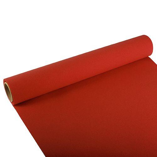Chemin de table ''ROYAL Collection'' 3 m x 40 cm rouge par 6