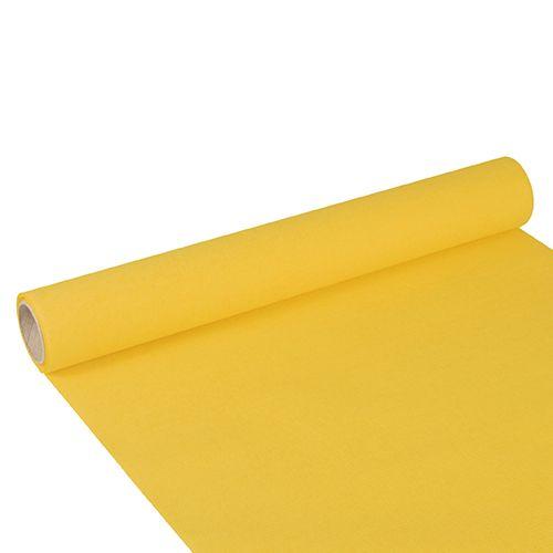 Chemin de table ''ROYAL Collection'' 3 m x 40 cm jaune par 6