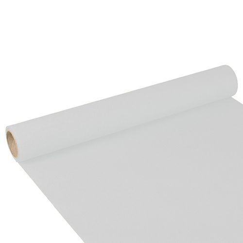 Chemin de table ''ROYAL Collection'' 3 m x 40 cm blanc par 6