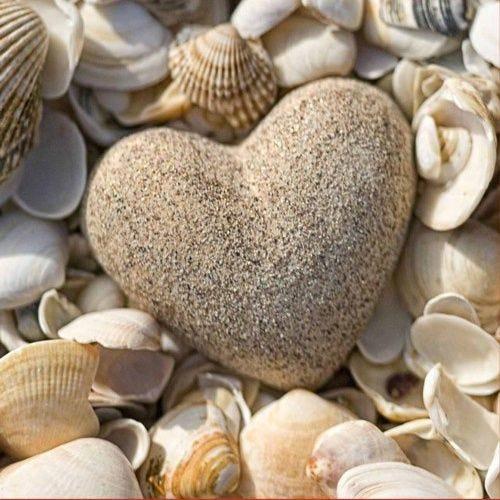 Serviette 3 plis pliage 1/4 33 cm x 33 cm ''Stone Heart'' par 180