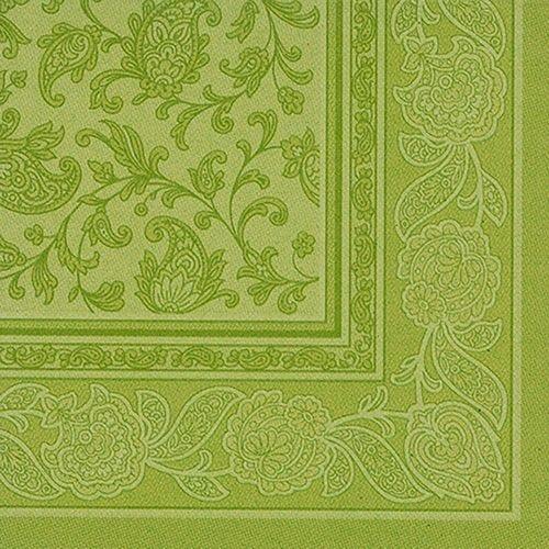 Serviette 'ROYAL Collection' pliage 1/4 40 cm x 40 cm olive 'Ornaments' par 250