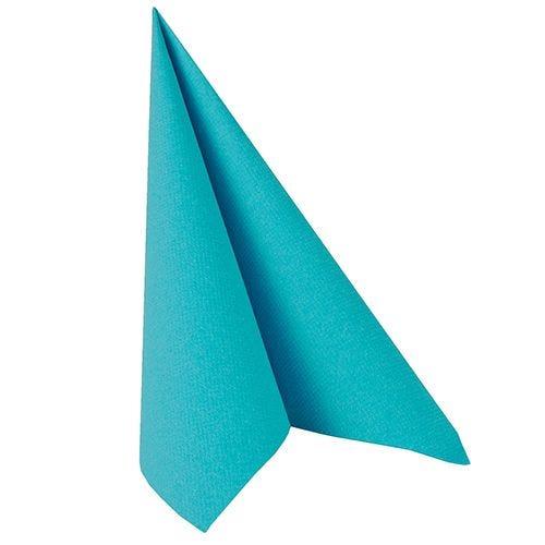 Serviette ''ROYAL Collection'' pliage 1/4 40 cm x 40 cm turquoise par 250