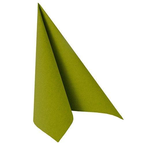 Serviette ''ROYAL Collection'' pliage 1/4 40 cm x 40 cm vert olive par 250