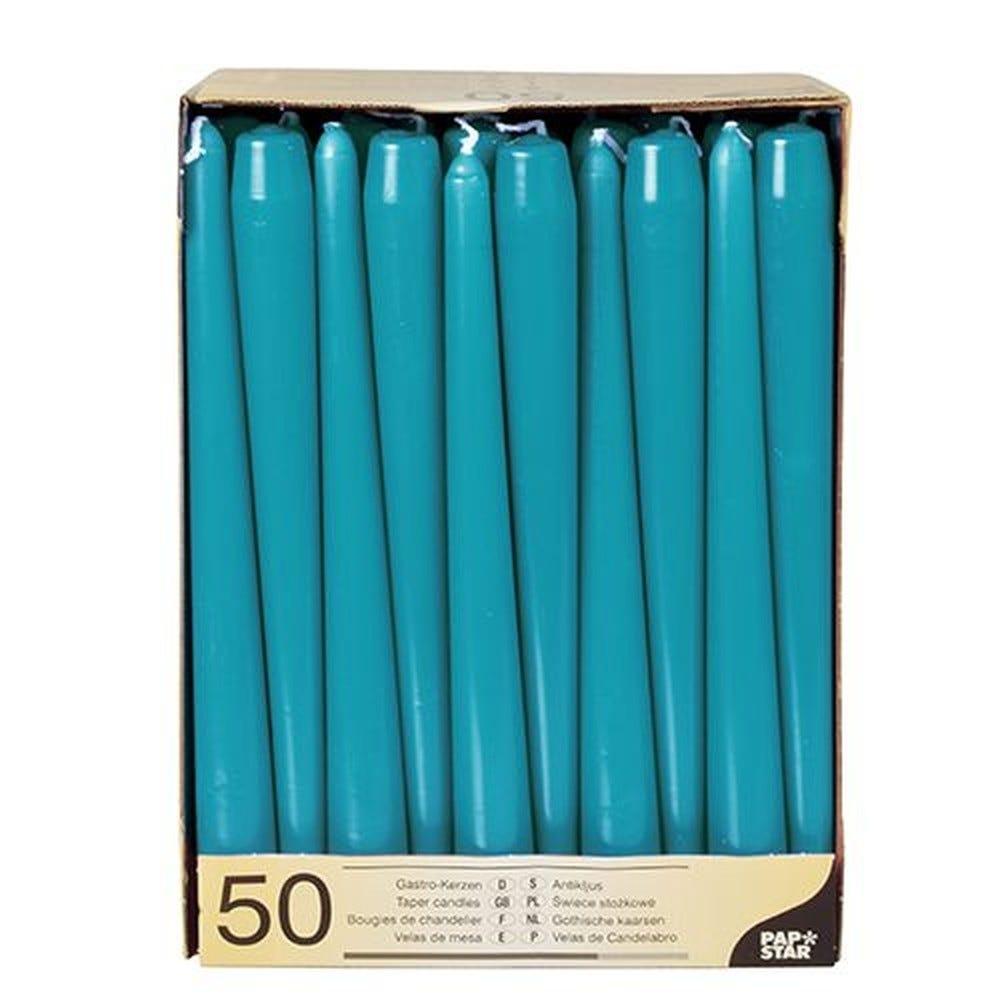 Bougie de chandelier Ø 2,2 cm · 25 cm turquoise par 100