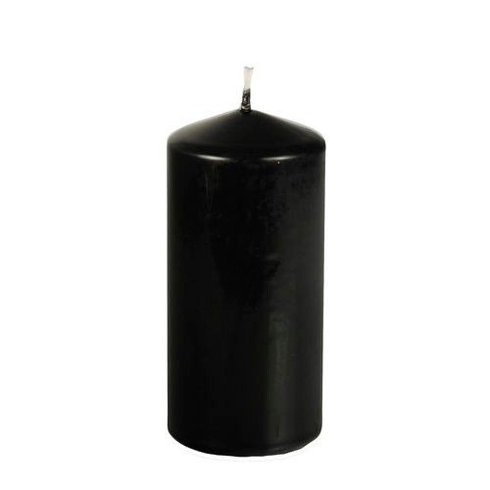 Bougie cylindrique Ø 69 mm · 150 mm noir par 8